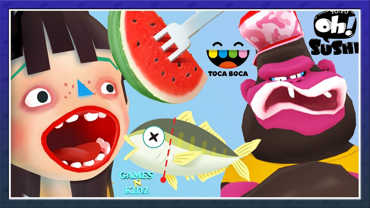 Toca Boca Kitchen 2 Vs To Fu Oh Sushi Cook Yucky Food