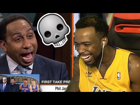 I'M CRYING LAUGHING!!! Stephen A. Smith Roasts Phil Jackson Calling LaMar Odom A Crack Head!