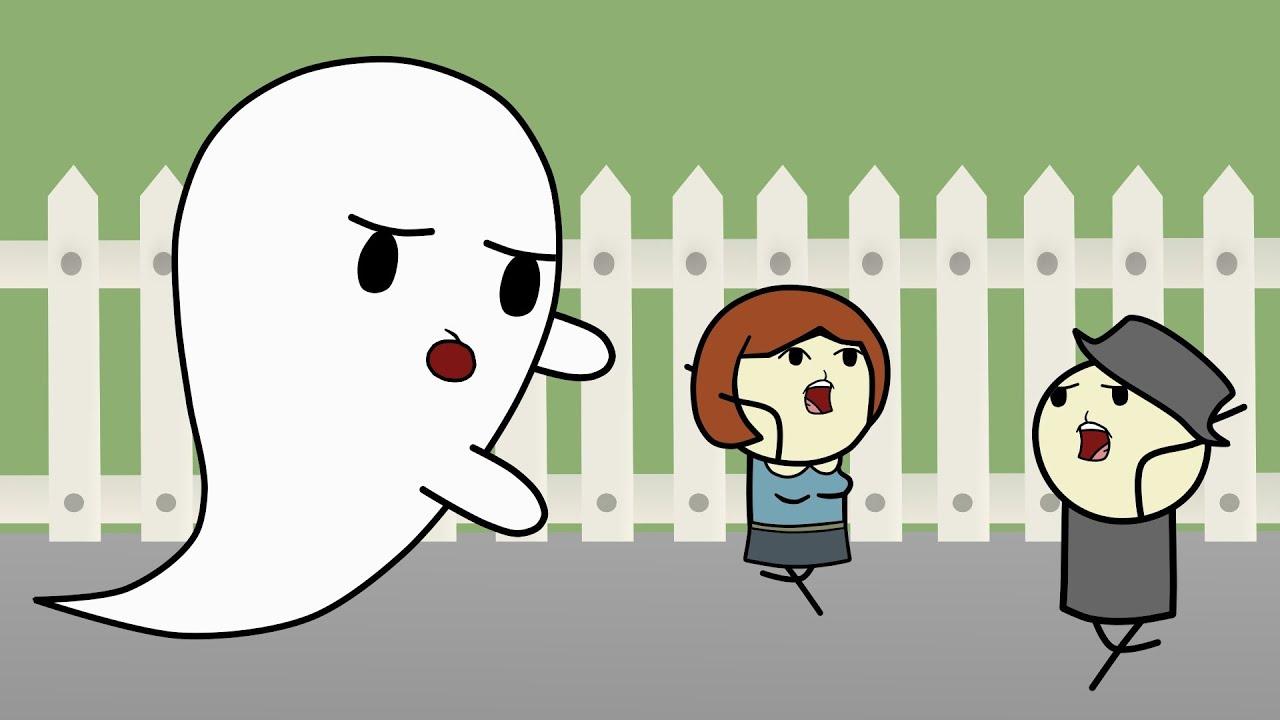 Мультфильм: Приведения против людей - Как пугать людей. Mult-uroki.ru