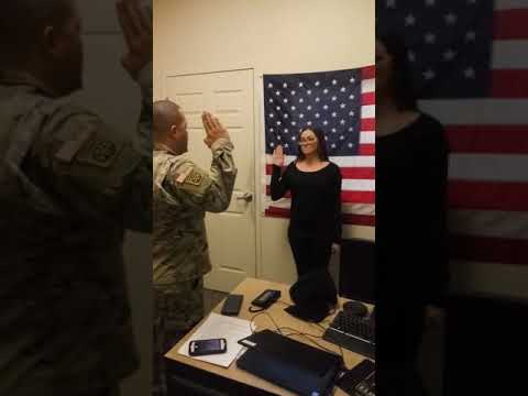 Oath Of Enlistment U.s. Army