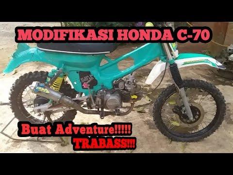 Modifikasi Honda C70 Konsep Grasstrack Cocok Buat Adventure dan Trabas