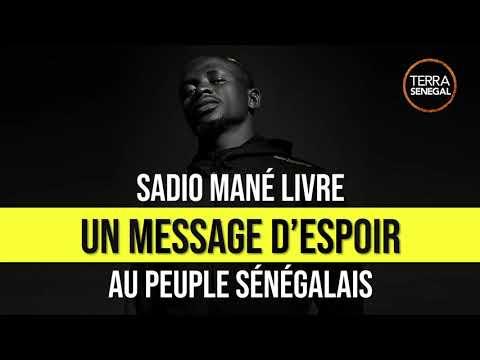 Sadio Mané livre un message d'espoir au peuple Sénégalais