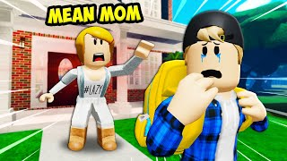 MEAN Mom Kicked Out Her Son?! A Sad Roblox Movie (Story)