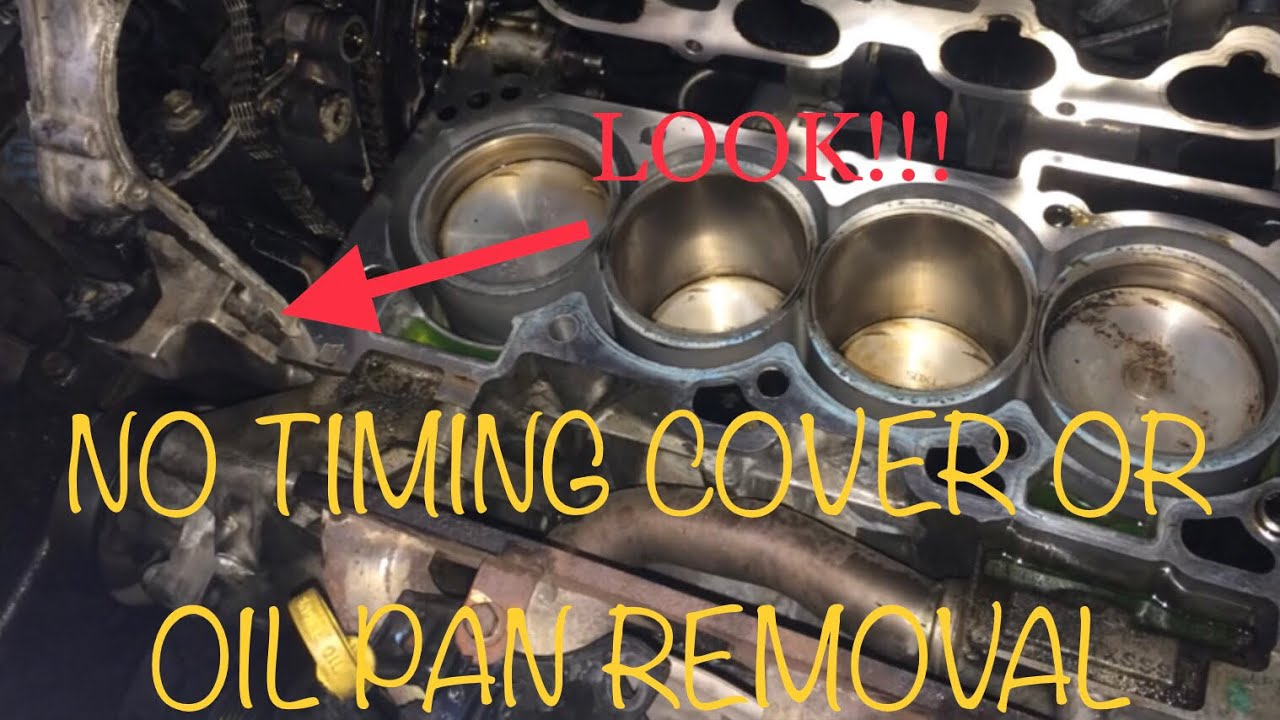 2 5 Nissan Head Gasket Without Removing Timing Cover And