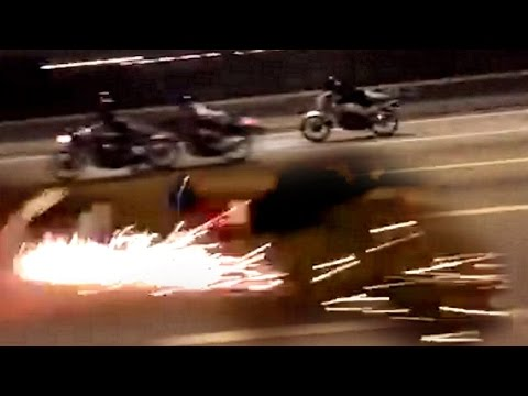 "Thumbnail: 200KPH Two-Stroke Motorcycle turns into a FIREWORKS !!! - ""ride safe always"""