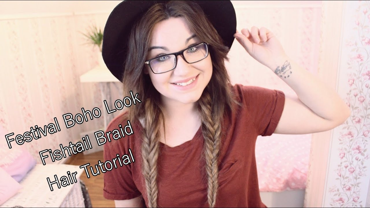 #4 doczepiane.pl Festival Boho Look - Fishtail Braid Hair Tutorial - [anna koper]