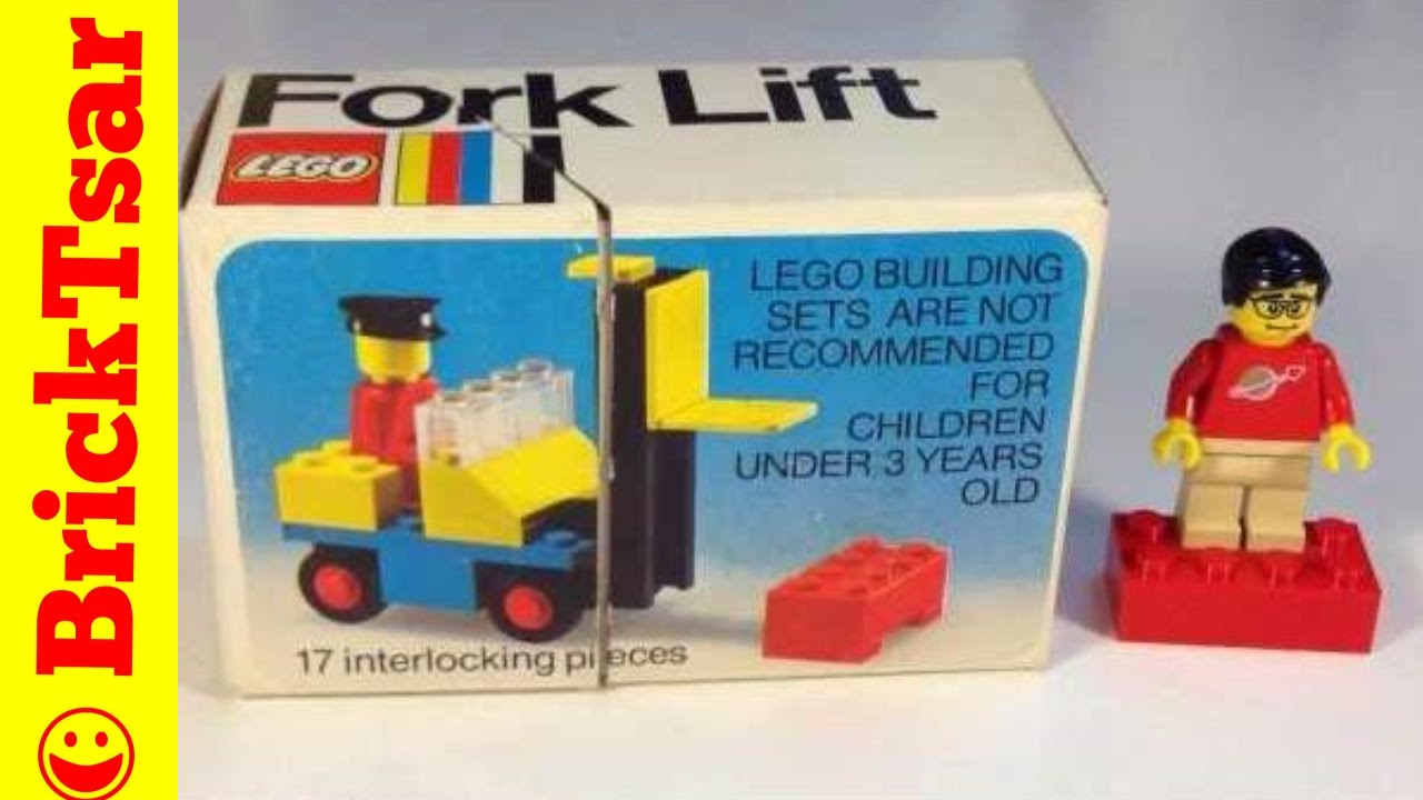 LEGO 425 Fork Lift set from 1975 Vintage LEGO Town - YouTube