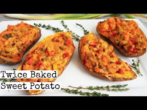 Twice Baked Sweet Potato | Easy