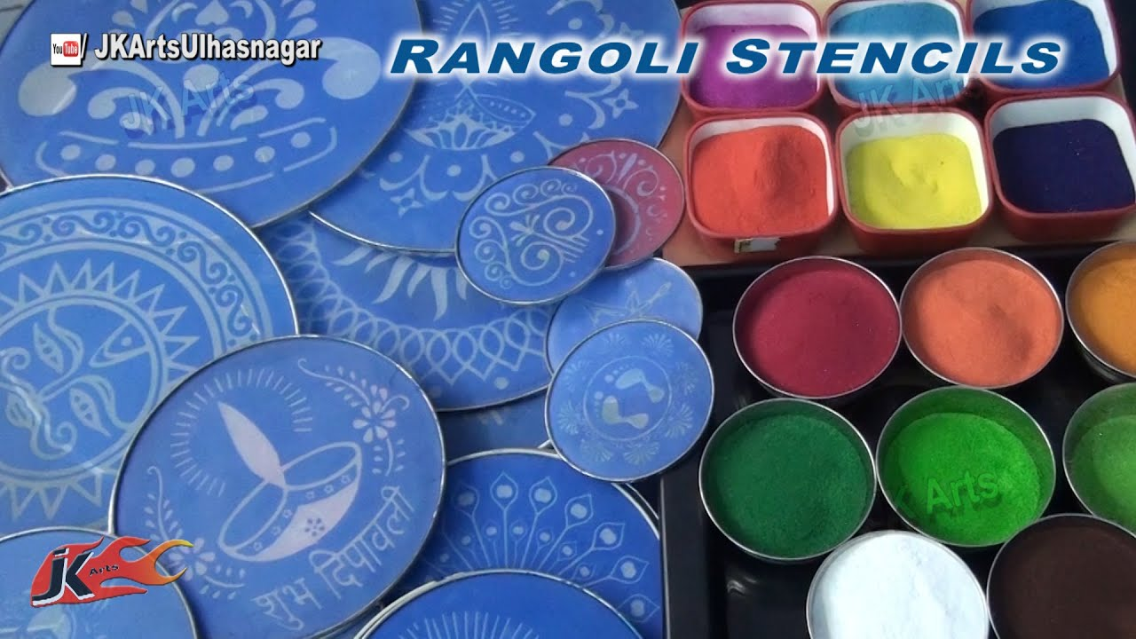 How To Use Rangoli Stencils Jk Arts 773 Youtube