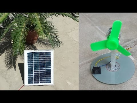 How to Make a Simple SOLAR FAN at Home - Very Easy