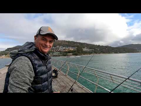 Lorne Pier Fishing - July 2019 - Happy Fisherman