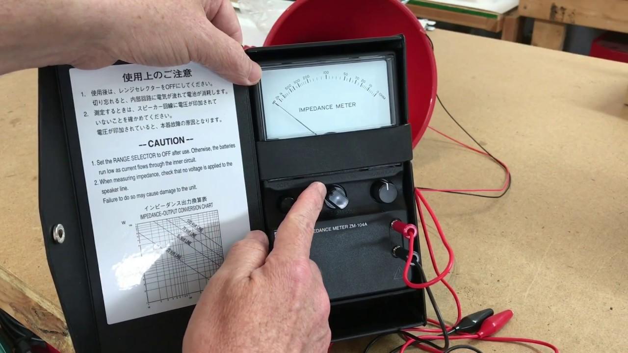 Loudspeaker Impedance Meter