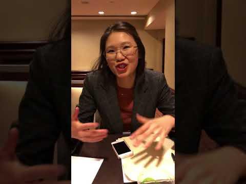 K-SAA Comm Fellow Ellen Nicholls interviews Yin Yuan at MLA 2018