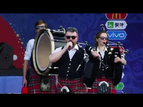 Hard Rock Medley. Moscow & District Pipe Band  FIFA Fan Fest 2018