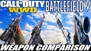 Battlefield V vs COD WW2 - Complete Weapon Comparison In Slow Motion