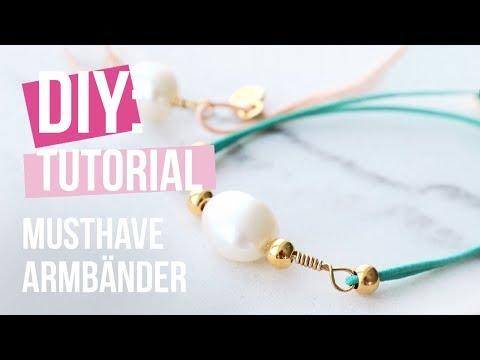 Schmuck machen: Armbänder mit Elastik und Artistic Wire ♡ DIY