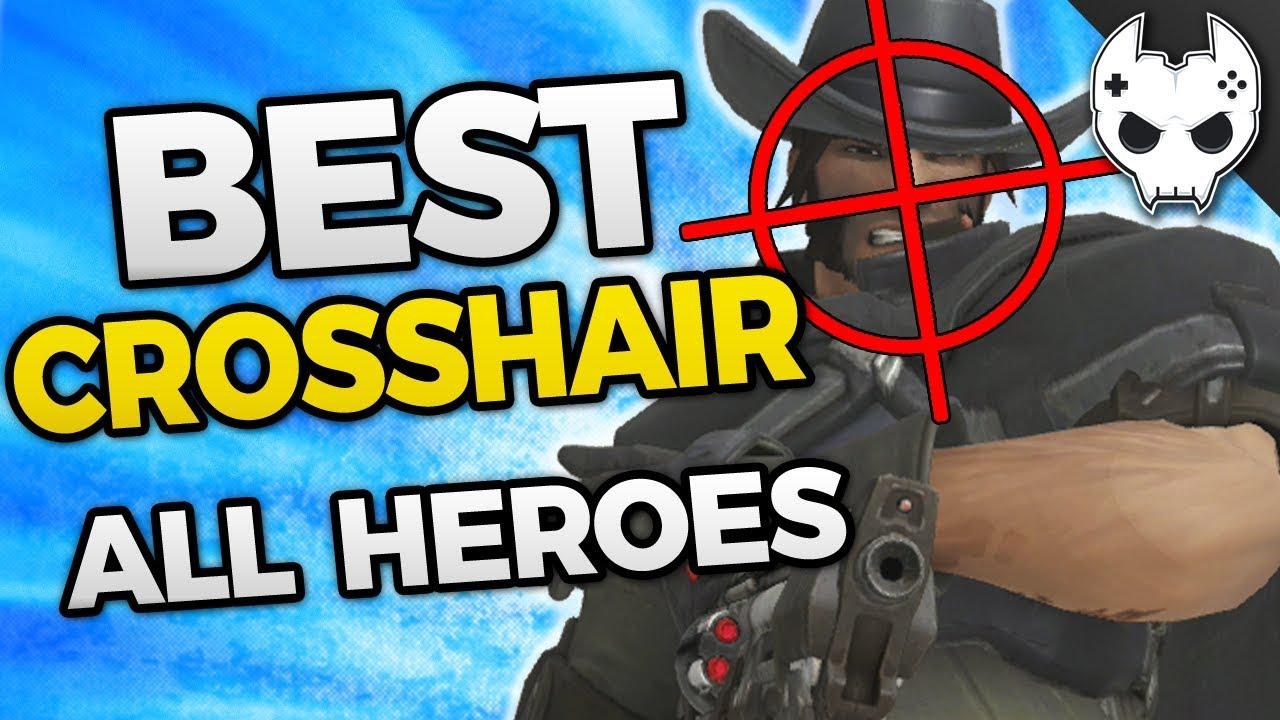 Overwatch - BEST CROSSHAIR SETTINGS - All Heroes