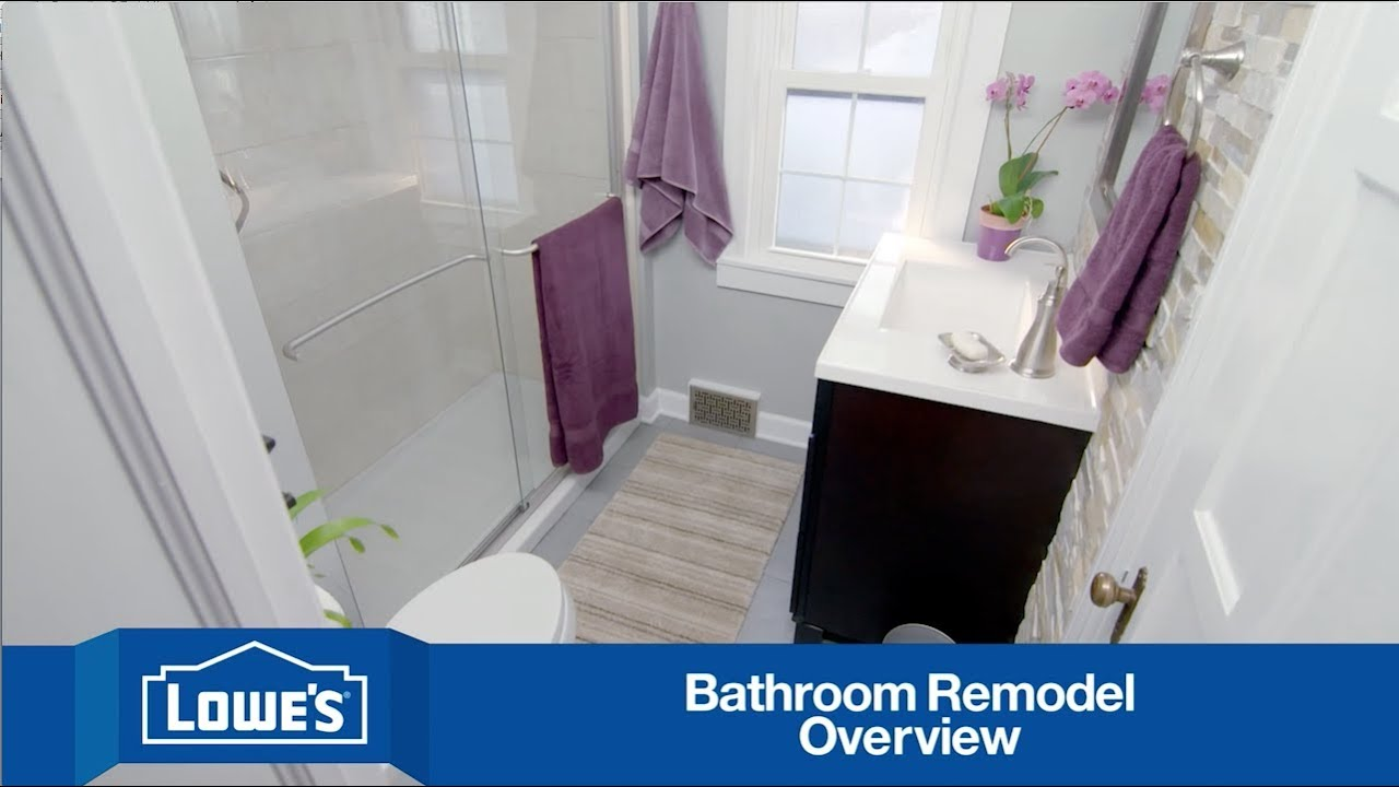 Bathroom Remodel Lowes budget-friendly bathroom remodel: series overview - youtube