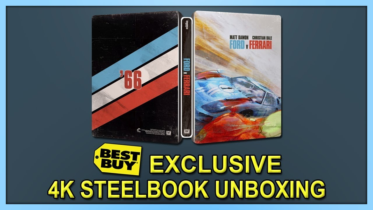 Ford V Ferrari Target Exclusive 4k 2d Blu Ray Digipack Unboxing Youtube