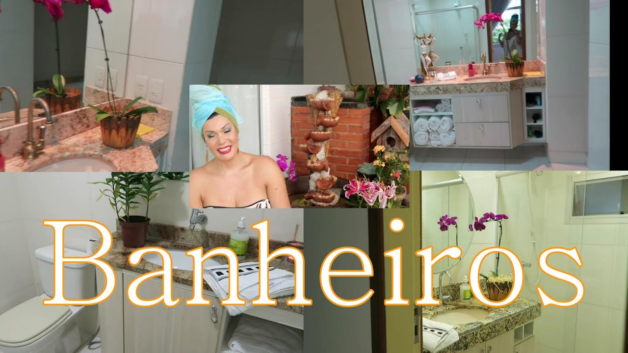 #A36D28 Tour Pelo meus Banheiros e Suite com dicas de Decoração  Canal da  1920x1080 px tour pelo meu banheiro com banheira
