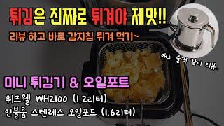 [잡사리뷰] 미니 튀김기로 감자칩 튀겨 먹자~! (실패…