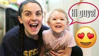 TODDLER LEARNS TO VLOG!