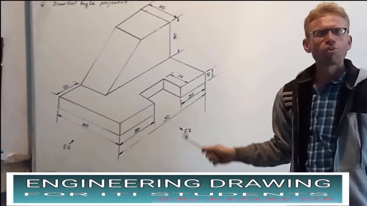 First Angle Projection Youtube To Draw Building Plans Example Drawing In Electronics Engineering Iti