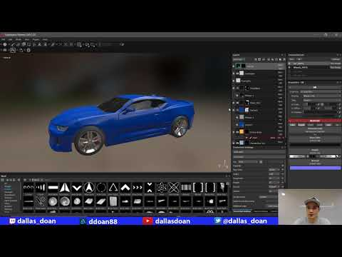 Texturing Car in Substance Painter and Packing into UE4