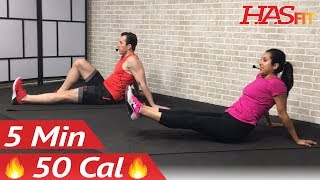 5 Minute Abs Workout for Beginners - 5 Min Beginner Easy Ab Workout for Women & Men