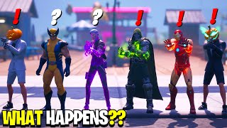 What Happens if ALL 6 Bosses Meet in Fortnite! | Midas Meets Iron Man, Wolverine Dr Doom & Henchmen!
