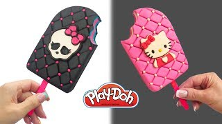 Dolls Food . Monster High Popsicle. Play Doh for Kids and Beginners. DIY Video for Kids