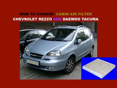 Chevrolet Rezzo Daewoo Tacuma How To Change Cabin Air Filter Youtube