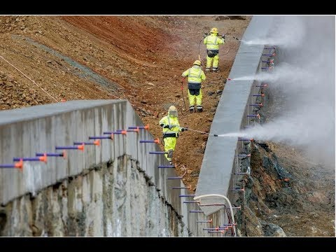 Oroville Dam Repair - RCC laid at Emergency Spillway march 5 - 10, 2018