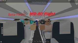 ROBLOX Beta fleet MD-80 flight!