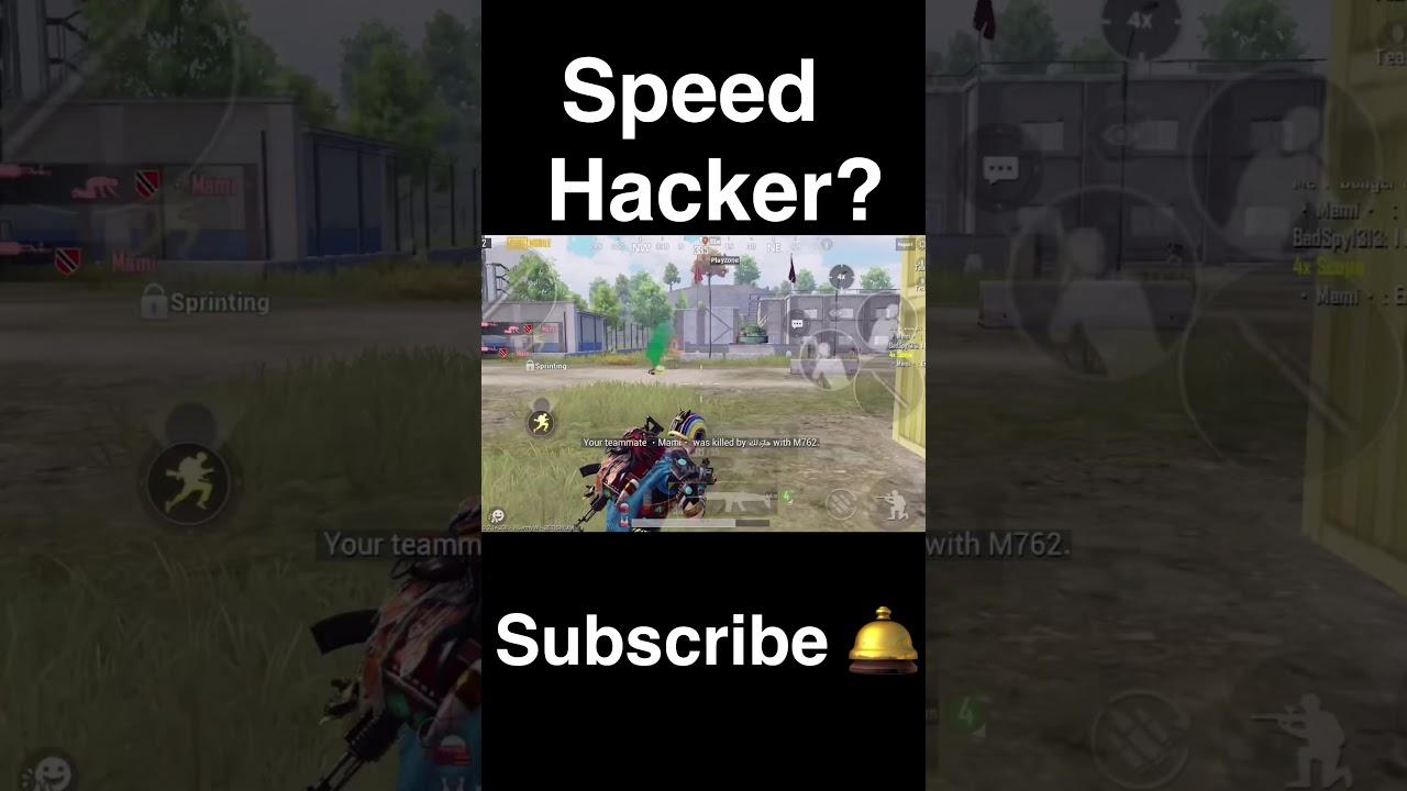 Pubg hacker? Speed hack    PUBG MOBILE Gameplay Video #shorts