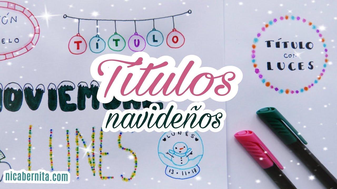 Ideas Para Decorar Apuntes Y Cuadernos En Navidad 1 Títulos Bonitos Banners Y Letras Navideñas
