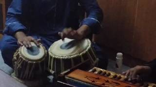 Greefen James and Yousuf Saab on Tabla at Greefen's Residence