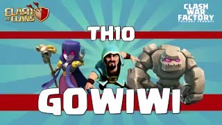 Clash of Clans - TH10 vs TH11 - 2 star Gowiwi