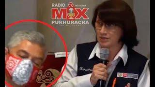 """Viralizan videos de ministros quedándose dormidos"""" en plena conferencia de prensa de Francisco"""