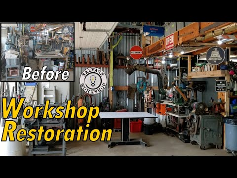 CREATING A Maker Space & Workshop Restore ~ The Initial Layout
