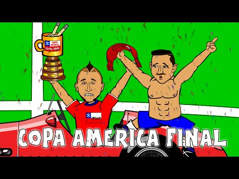 COPA AMERICA FINAL 2015 (Chile vs Argentina highlights, goals, penalties, cartoon song)