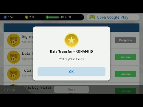 How To Create Konami ID and Get 250 Coin PES 2018 Mobile