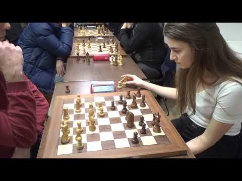 GM Arturs Neiksans - NM Margarita Parhomenko, Queen's pawn opening, Blitz chess
