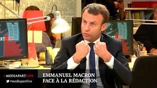 «En direct de Mediapart»: Emmanuel Macron face à la rédaction de Mediapart