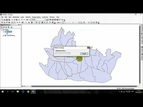 CEK ERROR TOPOLOGY DI ARCGIS