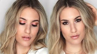 L'OREAL ONE-BRAND Makeup Tutorial: Peach Summer Smokey Eye + Glossy Lips | JamiePaigeBeauty