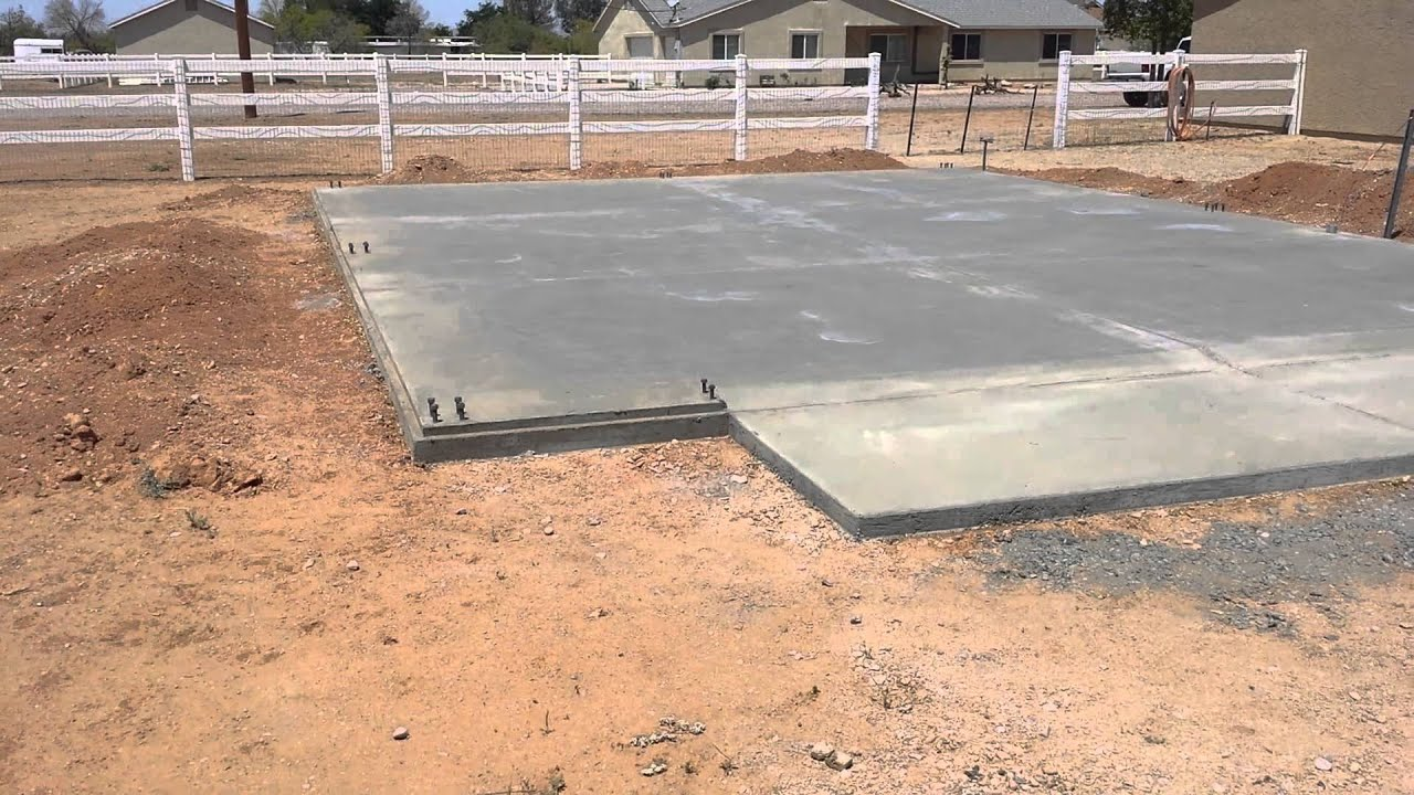 Steel Building Foundation in Florence Az - YouTube