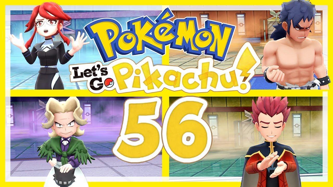 Pokemon Let S Go Pikachu 56 Rematches Gegen Lorelei Bruno