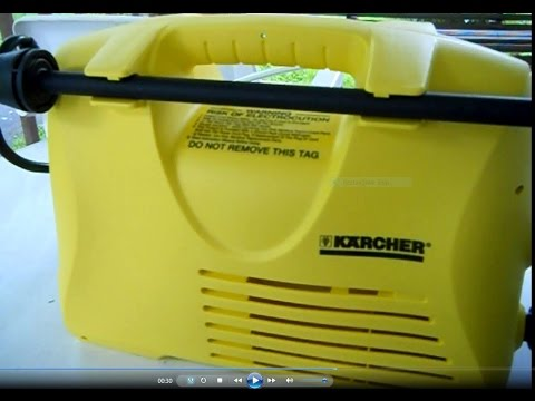 Karcher Brand Model 2.19 Electric Pressure Washer Unboxing, Assembly, Use, And Review