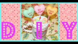Valentine's Day Diy Conversation Heart Lollipops